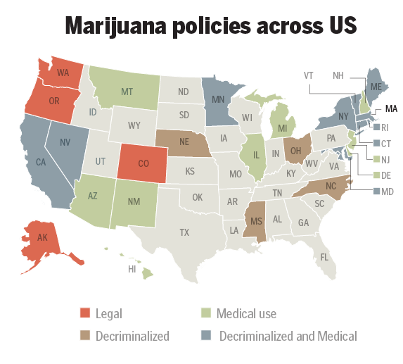 In 2014, Many States Experimented With Marijuana Laws